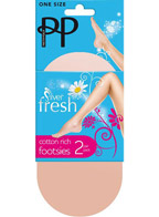 Подследники Pretty Polly Silver Fresh Footsies