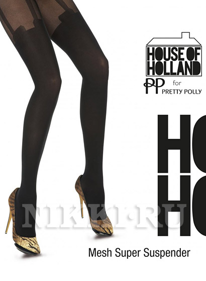 Колготки House Of Holland Mesh Super Suspender