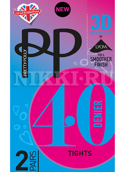 Колготки Pretty Polly Opaque 3D 40 (2 пары, ETG4)