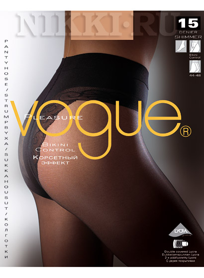 Колготки Vogue Pleasure Bikini Control 15
