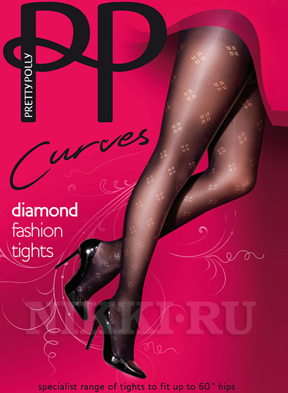 Колготки Pretty Polly Curves Diamond Fashion