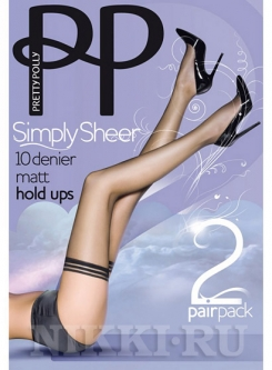 Чулки Pretty Polly Simply Sheer Matt Hold Ups 10 (2 пары)